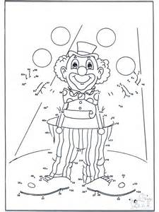 connect dots clown 2 number picture