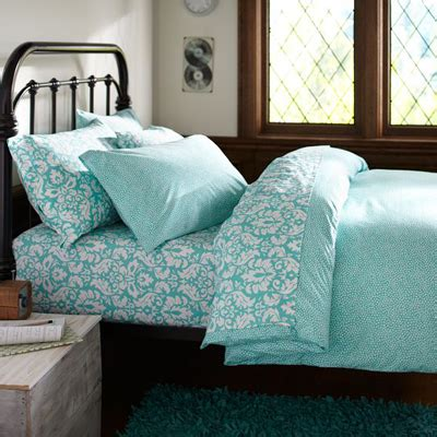 aqua bed mini dot duvet cover everything turquoise
