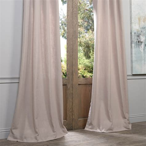 heavy linen curtains buy latte grommet heavy faux linen curtains panel