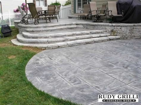 Raised Sted Concrete Patio by 17 Best Images About Patio And Decks On