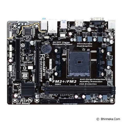 jual gigabyte motherboard socket fm2 ga f2a68hm h murah bhinneka