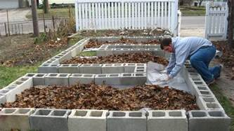 Gardening On Concrete Happy Home Build Your Own Concrete Block Raised Beds