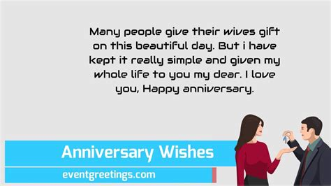 Wedding Anniversary Wishes Letter by Happy Wedding Anniversary Wishes For