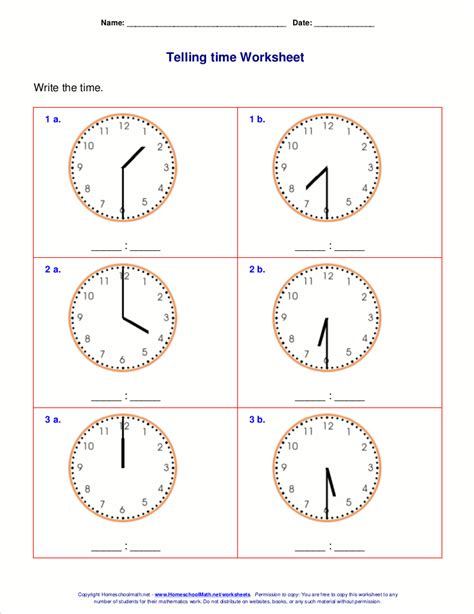 printable clock activities first grade telling time worksheets for 1st grade
