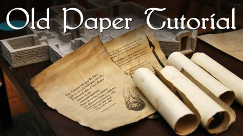 How To Make A Paper Scroll - paper tutorial