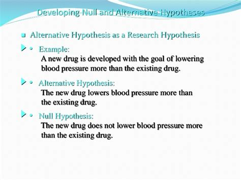 exle of null hypothesis hypothesis testing
