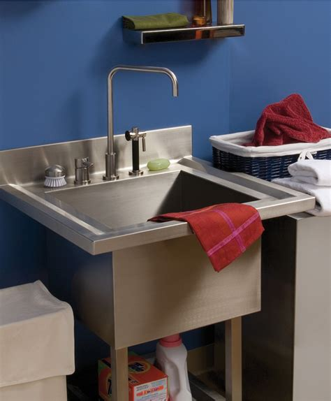 Laundry Room Sinks Stainless Steel Whitehaus Whnc3120 31 Laundry Room Sinks Stainless Steel