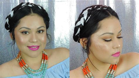 Frida Kahlo Hairstyle by Hair Tutorial Frida Kahlo Inspired Hair