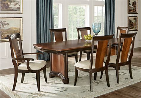 Granby Dining Room Set Granby Merlot 7 Pc Rectangle Dining Room Formal