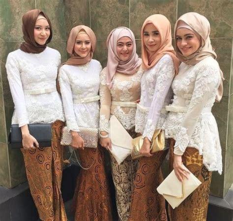 Rok Etnik Brokat 50 model baju brokat muslim dari dress gamis hingga