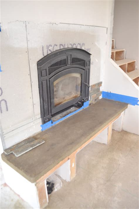 diy fireplace hearth diy fireplace hearth and stacked wall tile