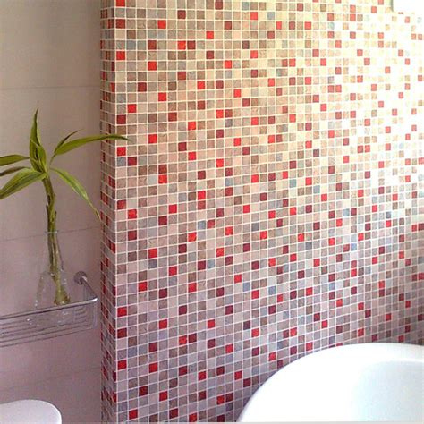 wallpaper decal red kitchens d bathroom kitchen wallpaper waterproof oil red mosaic wallpaper for
