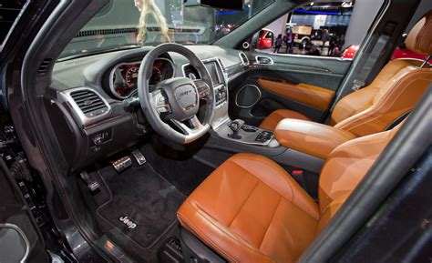 jeep grand cherokee red interior car and driver