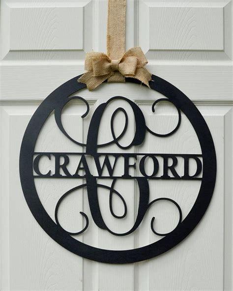 Monogram Letter Door Hanger 24 quot wooden letter painted monogram door hanger