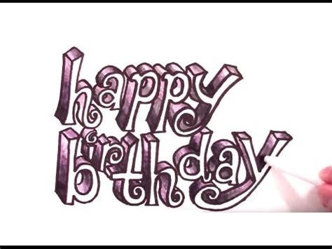 draw happy birthday   party letters youtube