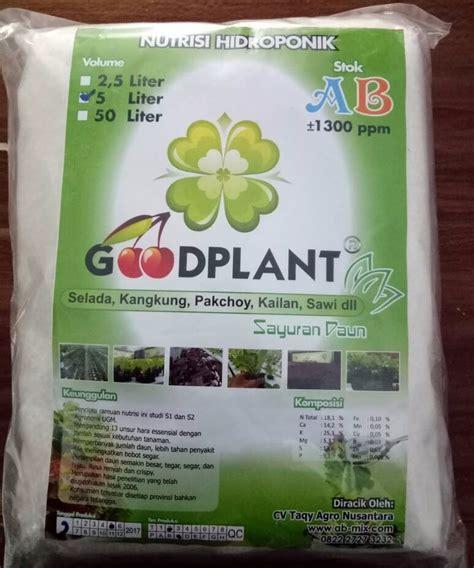 Nutrisi Hidroponik Ab Mix Goodplant goodplant nutrisi ab mix sayuran daun 5 liter