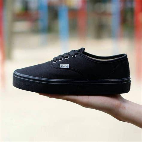 Harga Vans Hitam Polos sepatu vans authentic hitam shopee indonesia