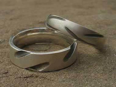 mens flat profile designer silver ring in the uk