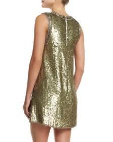 Nm Kaftan Gold odell embellished caftan mini dress gold