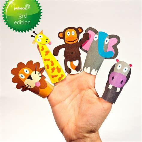 How To Make Animal Puppets For With Paper - jungle animals paper finger puppets printable pdf diy