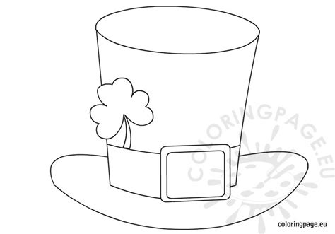 leprechaun hat coloring page st patrick s day hat coloring page
