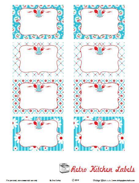 Aufkleber Drucken Celle by Free Printable Label Retro Kitchen Labels Etiketten