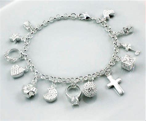 silver charm bracelet 183 silver jewelry silver jewelry