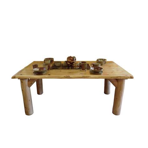Log Dining Tables White Cedar Log Dining Table