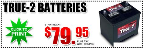Toyota Battery Coupon Toyota True 2 Battery Discount Coupon San Diego County