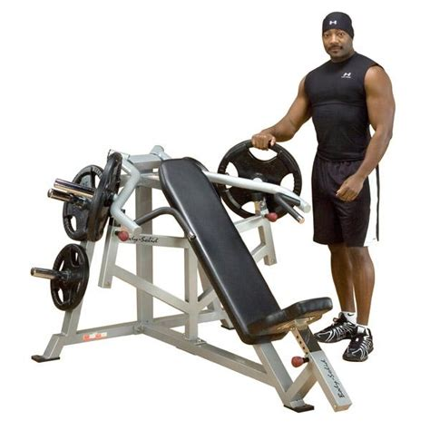 bench press to body weight body solid leverage incline bench press weight bench