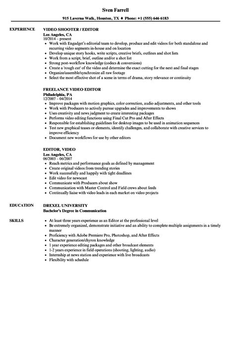 Sound Effects Editor Sle Resume by Specialist Sle Resume Resume With Objective Statement Resume Sle Computer Skills