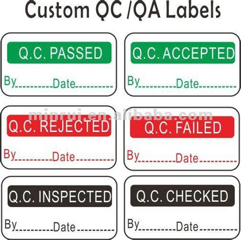 Inspected Ok Sticker Stiker Inspected custom quality inspection labels qc stickers