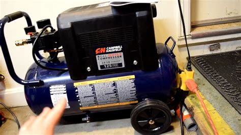 cbell hausfeld air compressor fill up