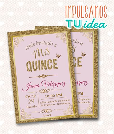 tarjetas on pinterest 15 anos wedding invitations and invitations tarjeta de 15 invitaci 243 n de quince para imprimir brillo