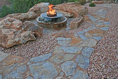 stone backyard natural stone walkways stone patios colorado denver