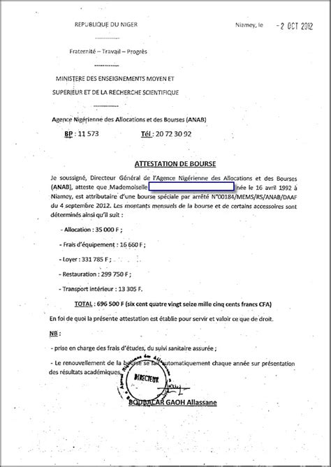 attestation de prise en charge visa