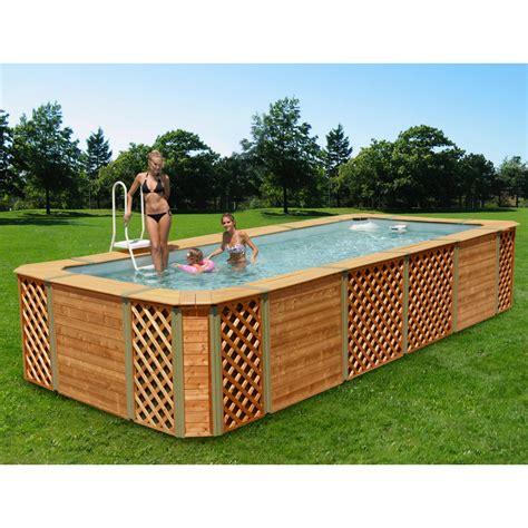 piscine fuori terra rivestite in legno piscine rivestite in legno technypools