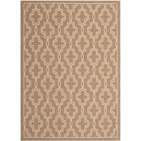 Safavieh Martha Stewart Brown Beige 4 Ft X 5 Ft 7 In Martha Stewart Outdoor Rugs