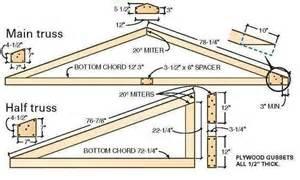 Roof Design Plans roof truss building plans