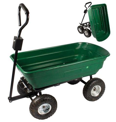 Garden Trucking by New Garden Heavy Duty Utility 4 Wheel Trolley Cart Dump