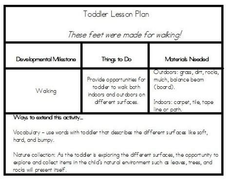 early childhood lesson plan template lesson plans toddler lesson plans and toddlers on