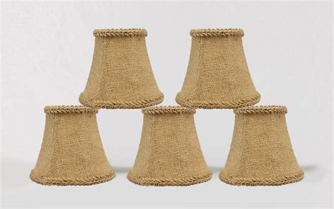 clip on l shades for chandeliers urbanest burlap chandelier l shades bell w jute braid