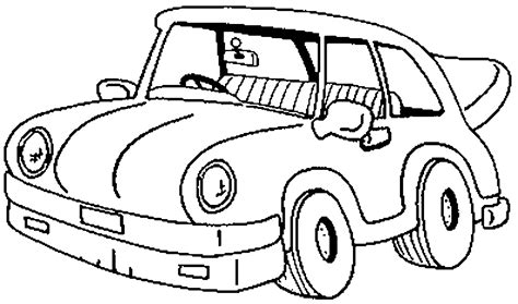 cartoon car coloring page classic cartoon car coloring page kids coloring pages