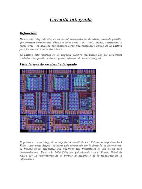circuito integrado definicion circuito integrado