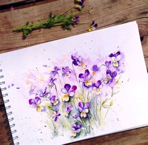 beauty flowers in watercolor paintings by russian artist