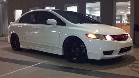 2007 honda civic black rims 18 215 7 5 black msr 048 wheels on a 2007 honda civic si