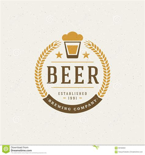 design beer label illustrator beer logo design element stock vector image 59160053