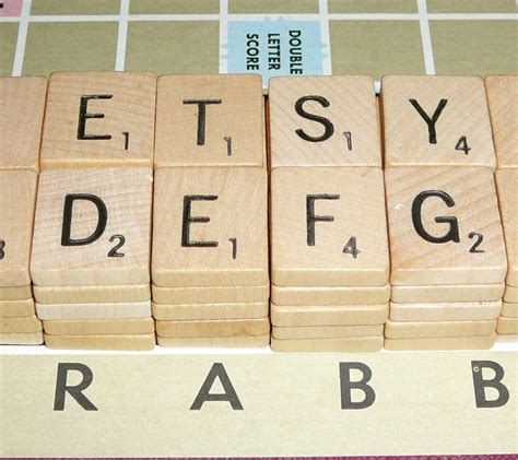 scrabble parts scrabble tile 100 letters parts pieces wood set newer