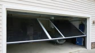 Garage Door Place Screen Is Easily Swung In Place Of Garage Door When Needed Contemporary Garage And Shed
