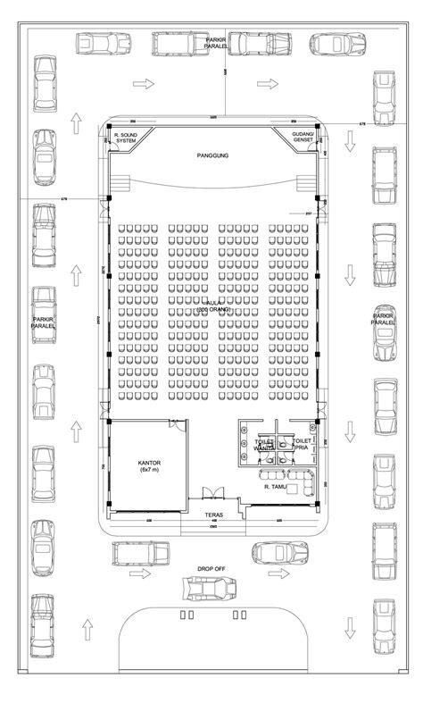 gambar layout ruangan rapat gedung serbaguna multidesain arsitek